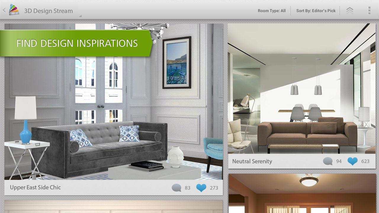 تطبيق Homestyler الثلاثي الأبعاد 3d لتصميم الديكور الداخلي للمنزل زووم على التقنية