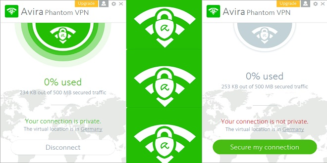 كاسر البروكسي Avira Phantom VPN لخصوصية أفضل