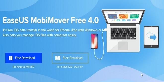 برنامج نقل ملفات وبيانات الايفون إلى ايفون اخر وإلى الكمبيوتر Mobimover